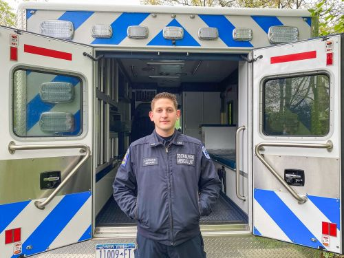 A day in the life of an NYC real estate executive who volunteers as a paramedic and spends his nights working on the frontline of the coronavirus pandemic