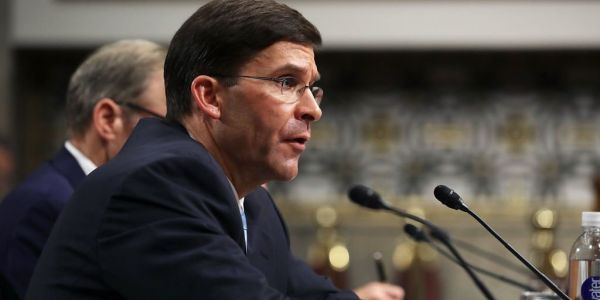 This is Mark Esper, the Gulf War Army veteran and defense lobbyist who Trump has tapped to lead the Pentagon