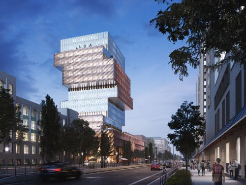 Boston University is building an enormous new building that looks like a Jenga tower and uses no fossil fuels