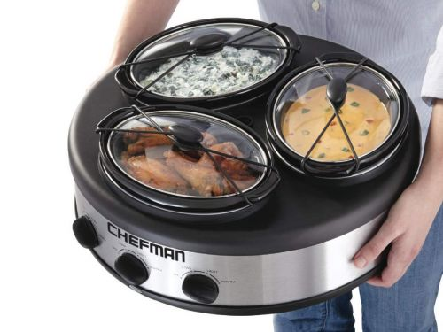 This slow cooker lets you cook 3 dishes at once and keep food warm at parties - here's how it works
