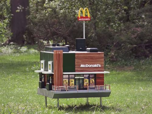McDonald's just opened a tiny restaurant for bees -here's what it's like inside