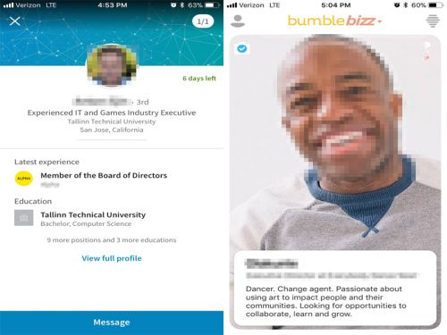I tried LinkedIn's career advice app vs. dating app Bumble's version and discovered major flaws with both