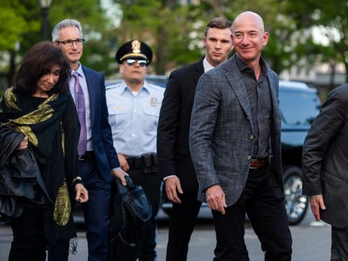Jeff Bezos, Drew Houston, and a group of other tech execs traveled to a remote Italian village to meet with the fashion designer Silicon Valley is obsessed with