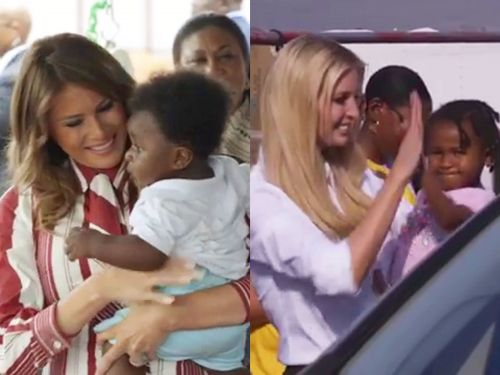 Melania and Ivanka Trump reportedly clashed over similar photo ops with black children in their Instagram videos