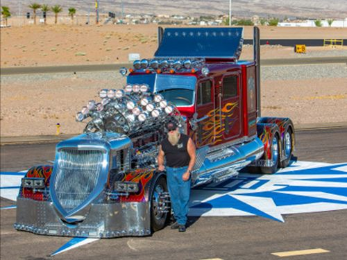 A 4,000 horsepower Peterbilt truck named Thor, the 'most powerful big rig ever,' just sold for $13.2 million in Saudi Arabia