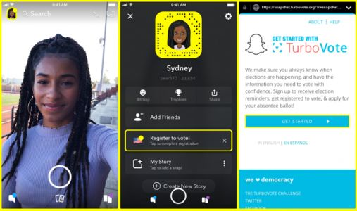 Snapchat's users are surprisingly old and it's telling them to vote