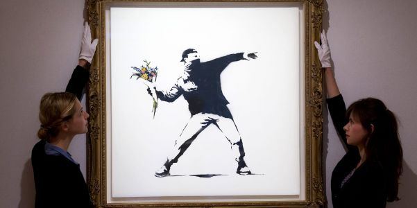 Luxury auction house Sotheby's will accept cryptocurrencies as payment for a Banksy artwork next week