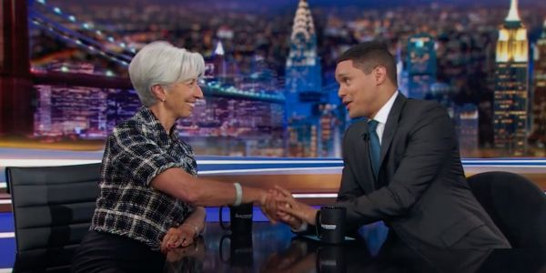'He has a point': Christine Lagarde tackled Trump's trade war, climate change, and the gender pay gap on the Daily Show with Trevor Noah