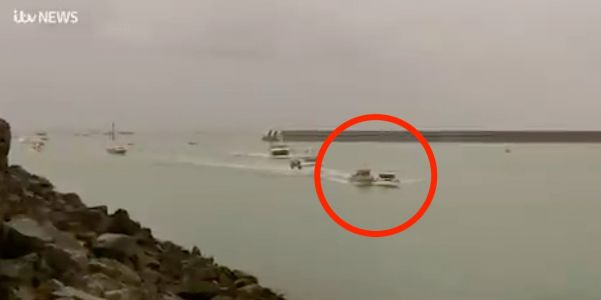 Video shows 2 boats crashing amid a standoff between France and Britain over fishing rights