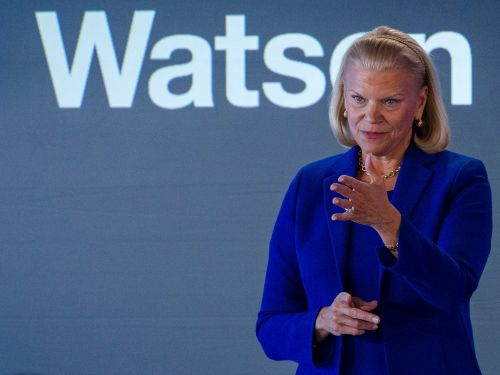 IBM shares are rising after Big Blue posted better-than-expected results. Revenue dipped, but earnings beat Wall Street estimates