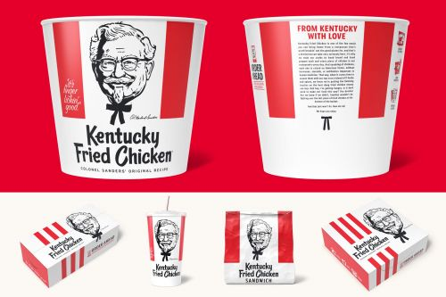 Take a look at KFC's new packaging, complete with instructions on reheating leftover chicken - and a makeover for Colonel Sanders