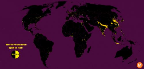 Half the world's population lives in 1% of the land