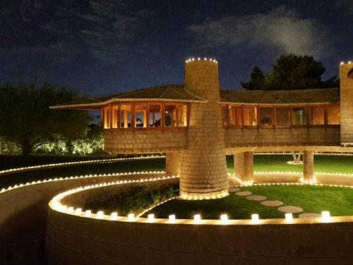 A glowing, spiral-shaped Frank Lloyd Wright house that was almost demolished just sold for $7.25 million - take a look inside