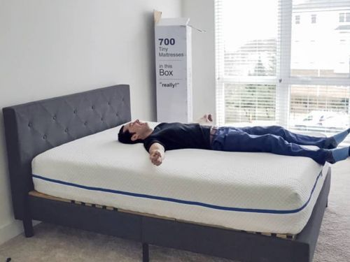 A new mattress combines '700 tiny mattresses in one' for better support - I slept on it and noticed less lower back aching
