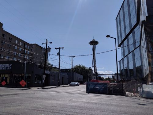 We checked out the neighborhood where Apple is building a new Seattle campus, just blocks away from Amazon HQ