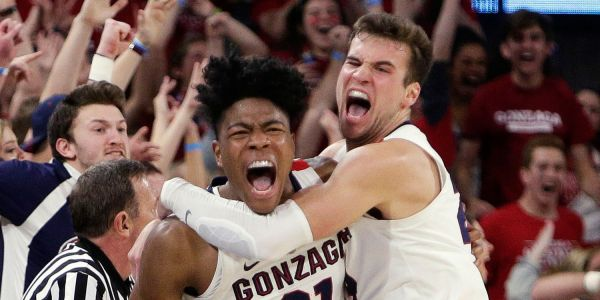 Top-ranked Gonzaga saved from first loss of the season with an epic last-second game-winner