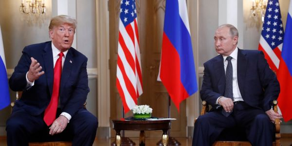 Trump and Putin met for 2 hours one-on-one, had lunch, and hosted a wild press conference - here are the best photos