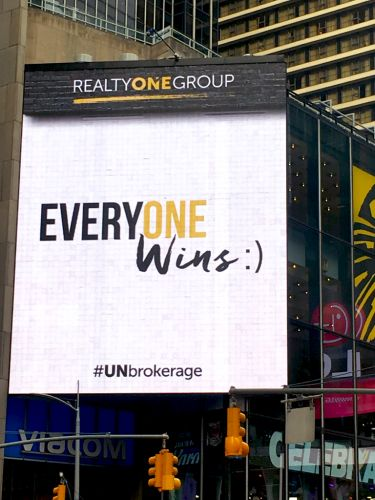 Realty ONE Group Launches Billboard Campaign in New York City's Times Square