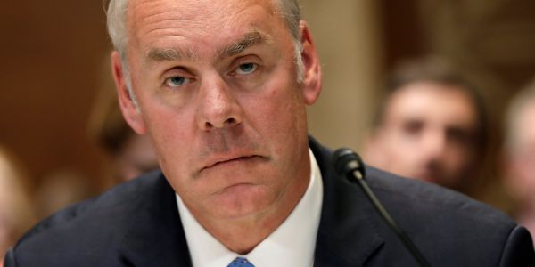 Embattled Interior Department secretary Ryan Zinke is stepping down
