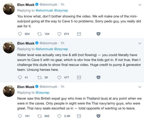 """Elon Musk tweets he'll """"bet ya a signed dollar"""" that Thai cave rescuer is a """"pedo"""""""