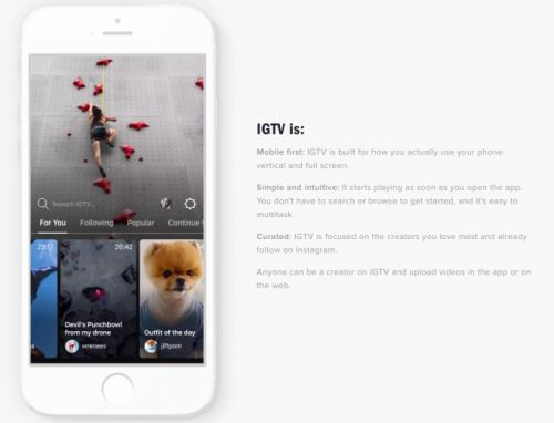 Instagram launches IGTV video hub for creators