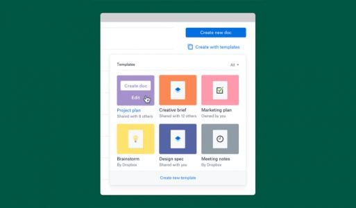 Dropbox rolls out a templates tool for its Paper online document service