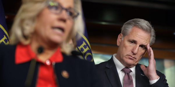 House GOP leader Kevin McCarthy backs ousting Liz Cheney from leadership over her criticism of Trump while claiming Republicans 'embrace free thought and debate'