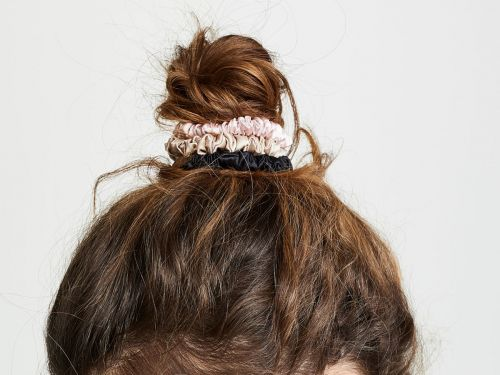 These silk hair ties are pricey at $20 for a 3-pack, but I'm glad I bought them - they protect my fine hair from kinks and breakage