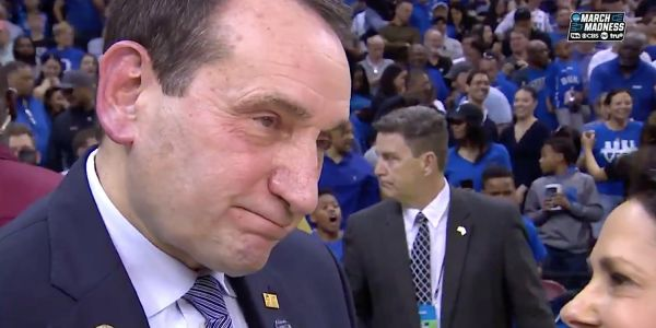 Coach K gave an emotional interview after Duke's narrow victory saying UCF was 'deserving of winning'