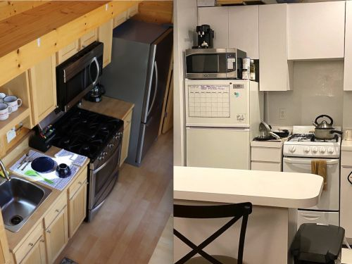 I spent 2 nights in a tiny house and it was basically the same as my New York City apartment, but with more windows and fewer stairs - here's how they compare