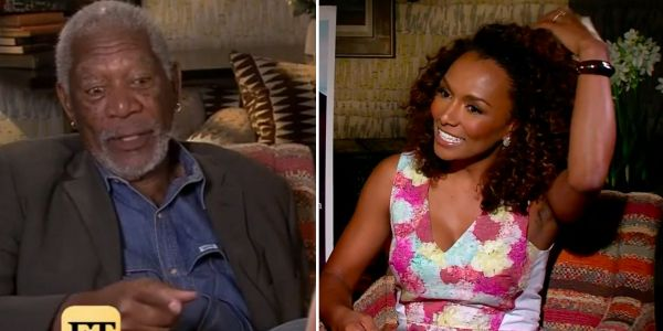 Old interview footage shows Morgan Freeman making creepy comments to female Entertainment Tonight reporters