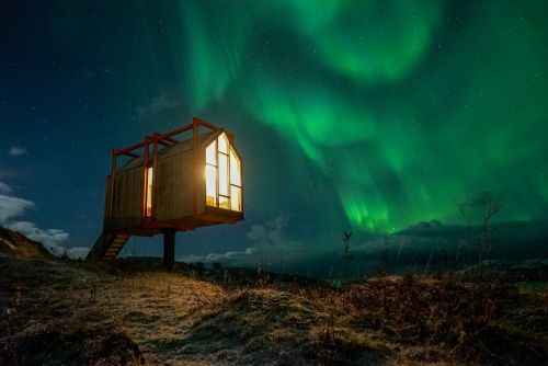 This village of tiny houses in the Arctic is actually a hotel - and it's about as far away from other humans as you can get