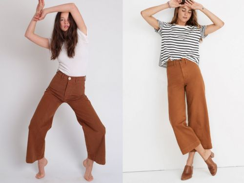 A designer is accusing Madewell of using her 'trademark' to sell wide-leg pants - but people aren't too sure