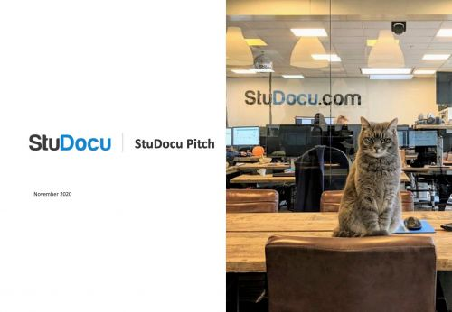 We got an exclusive look at the pitch deck note-sharing startup StuDocu used to raise $50 million