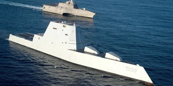 The Navy's taking a hard look at hyper velocity railgun rounds for the Zumwalt destroyers that still don't have any ammo