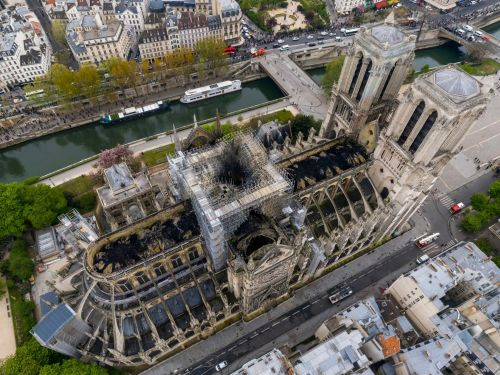 France launched a competition for designs to rebuild Notre-Dame. Architects want to restore the cathedral with a glass roof and a crystal spire