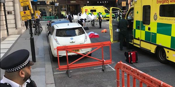 Police say there's no evidence a man who died in the street in London was poisoned