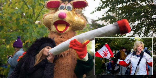 14 photos of people lighting up after Canada legalized weed