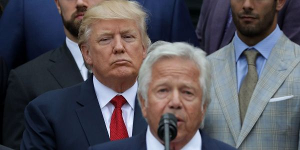 'I was very surprised to see it': Trump responds to charges against friend and Patriots owner Robert Kraft