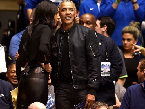 Obama wore a personalized $595 jacket to the game between North Carolina and Duke - and knockoffs are already being made