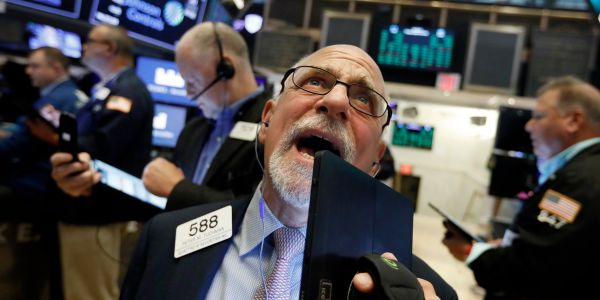 Stocks are plunging as traders pile into havens after a drone strike slashed Saudi oil output