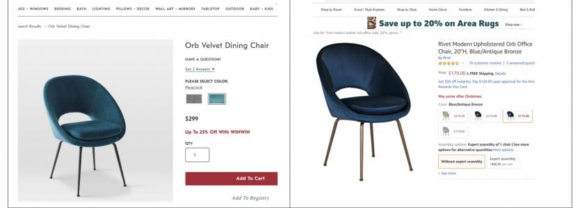 Amazon stopped selling certain furniture designs on its website after West Elm called them 'knockoffs' in a new lawsuit