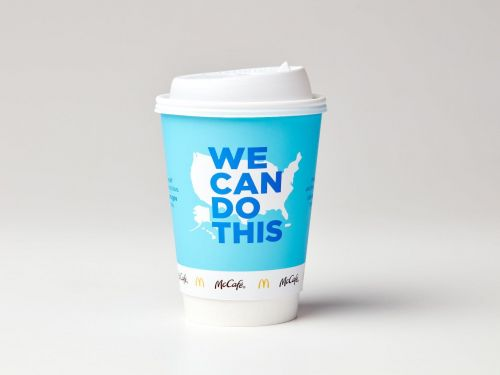 McDonald's is partnering with the White House to promote the COVID-19 vaccine on McCafé coffee cups