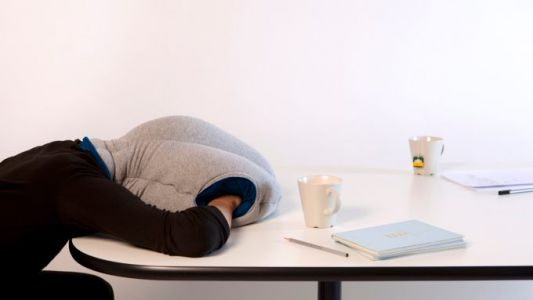 Ostrichpillow Hood, the latest product from Studio Banana, is no joke