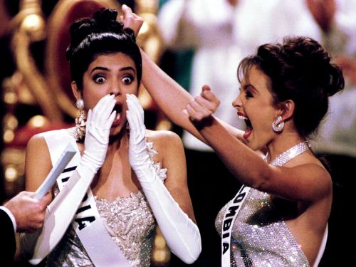 Photos of the exact moment 35 contestants found out they won Miss Universe
