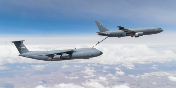 The Air Force's brand-new tanker is being tested with the service's biggest plane