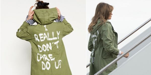 Trump contradicts Melania's spokeswoman and says first lady's controversial jacket had a message