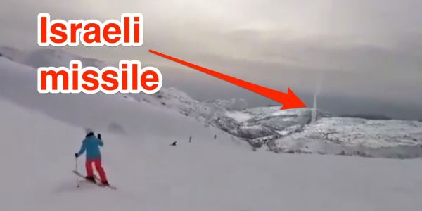 Video shows Israel's Iron Dome intercept a rocket over a ski resort in the Golan Heights