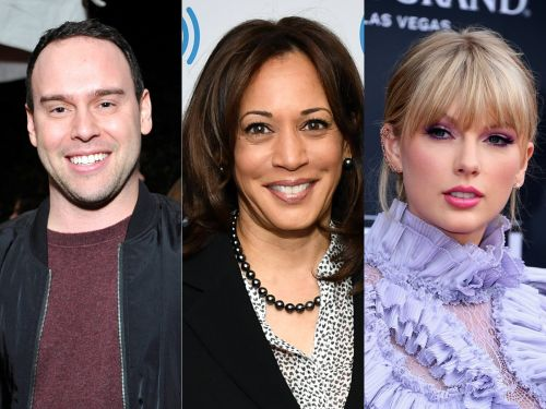 Taylor Swift fans are upset with presidential candidate Kamala Harris for attending a fundraising event at Scooter Braun's mansion