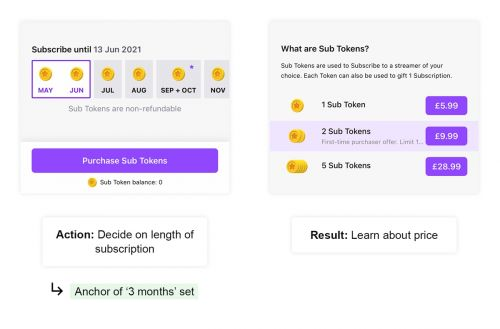 Twitch UX teardown: The Anchor Effect and de-risking decisions